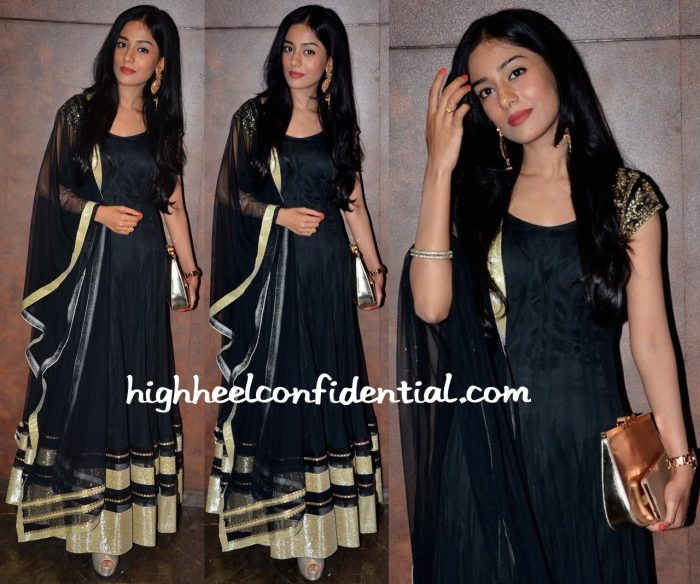 Amrita Rao Photographed At A Movie Screening