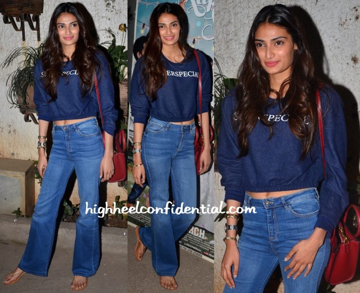 Athiya Shetty At Kapoor And Sons Screening