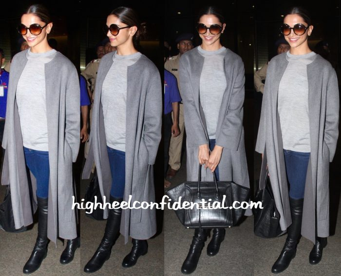 Deepika Padukone Photographed At The Airport