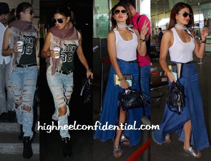 Jacqueline Fernandez Photographed At Mumbai Airport-2
