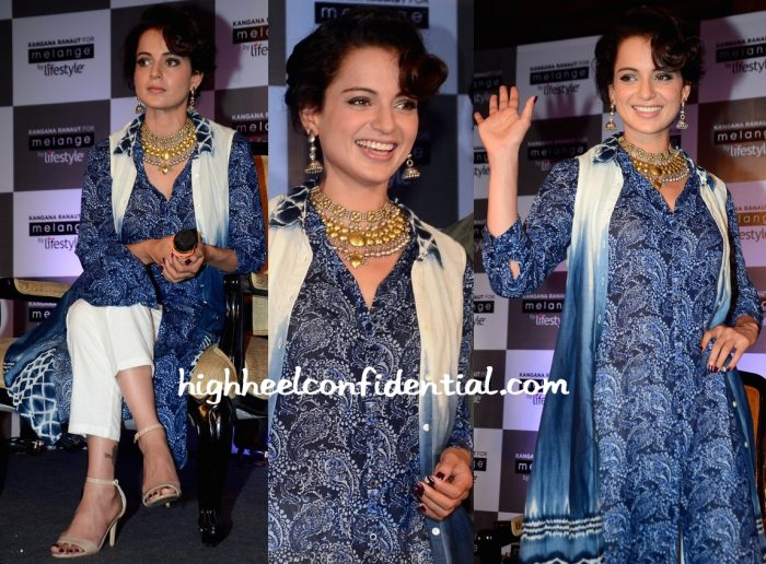 Kangana Ranaut At A Press Meet For Melange