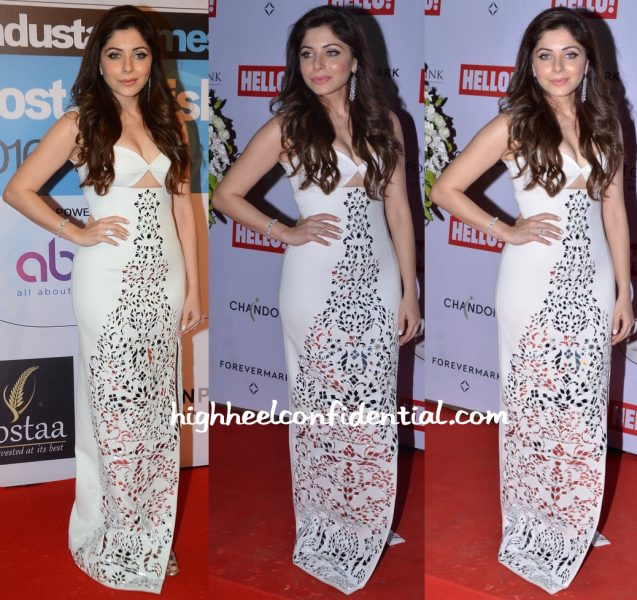 Kanika Kapoor In Monisha Jaising At HT Most Stylish Mumbai 2016  And Hello Cup 2016-1