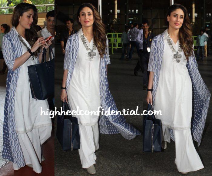 Kareena Kapoor (In Anita Dongre) Photographed At The Airport-2