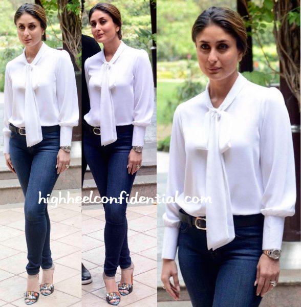 Kareena Kapoor Wears Neha Taneja To Ki And Ka Promotions In Delhi-1
