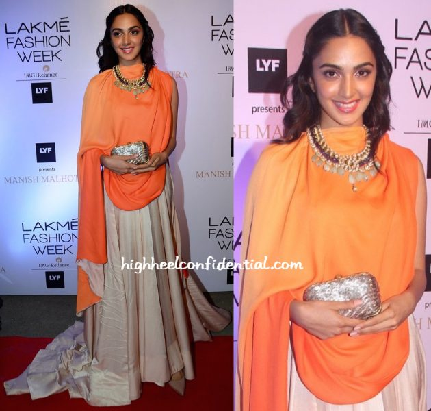 Kiara Advani At Manish Malhotra's Show At Lakme Fashion Week Summer Resort 2016-1