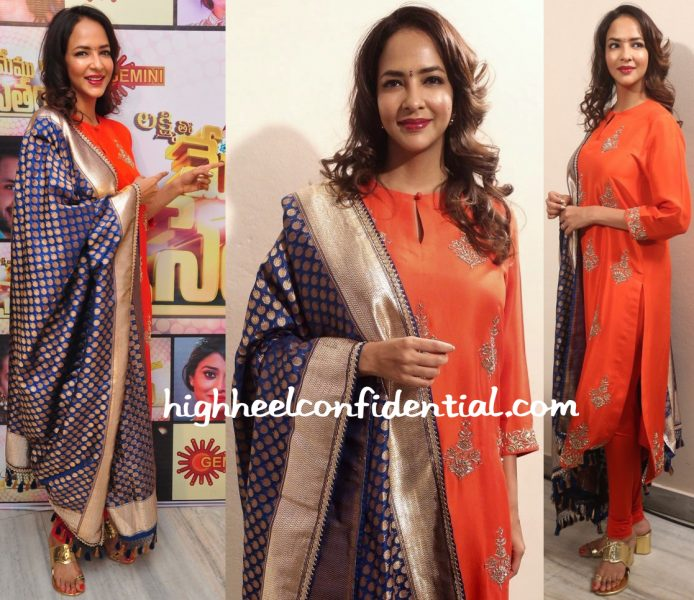 Lakshmi Manchu Wears Jayanti Reddy To Memu Saitham Press Meet-1