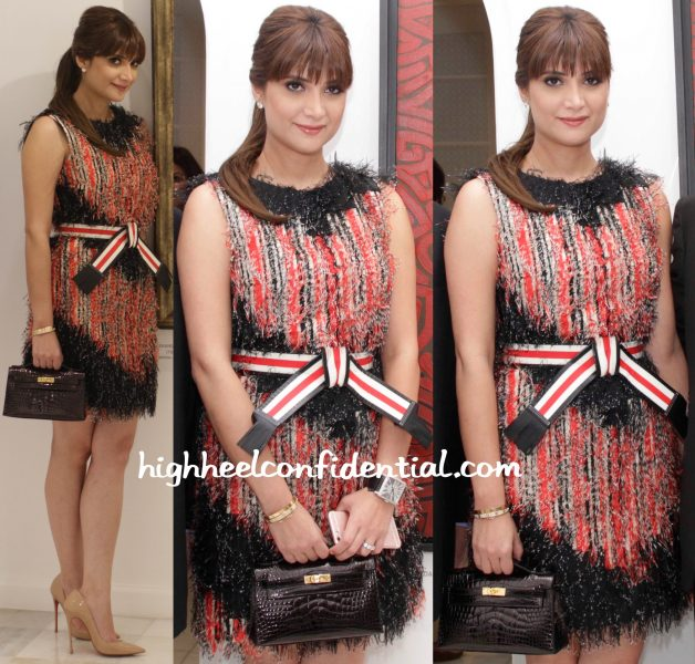 Michelle Poonawala In Fendi At Jehangir Vazifdar Book Launch And Art Event-2