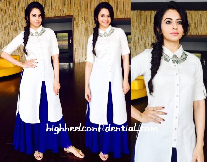 Rakul Preet Singh In AND by Anita Dongre And Archana Rao On ' Memu Saitam' Sets-1