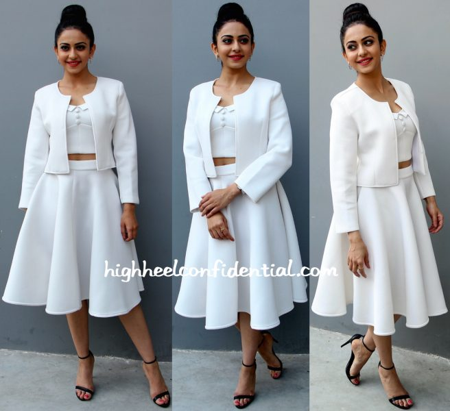 Rakul Preet Singh In Land Of August At A Press Meet For 'Sensation ' Event-1