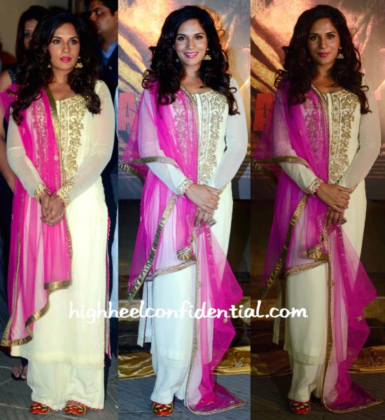 Richa Chadha In Mayyur Girotra At Sarbjit Poster Launch-2