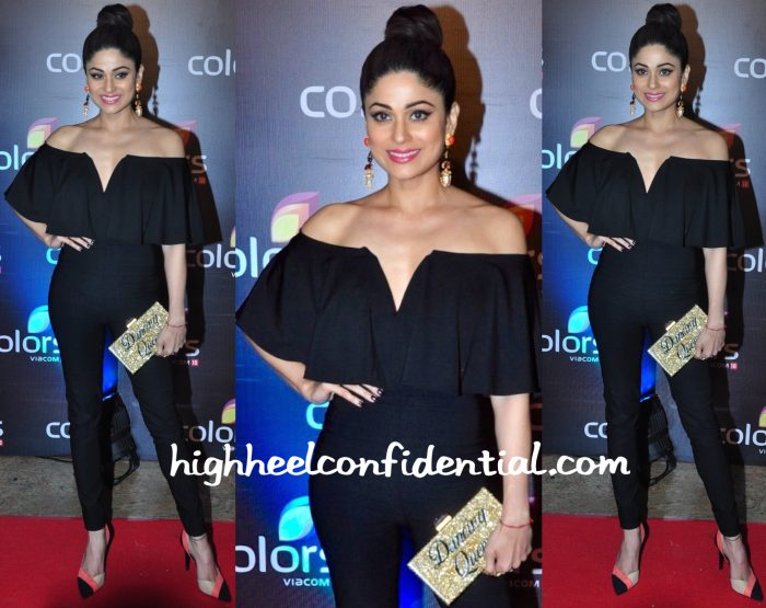 Shamita Shetty In Nasty Gal At Colors TV Annual Party 2016