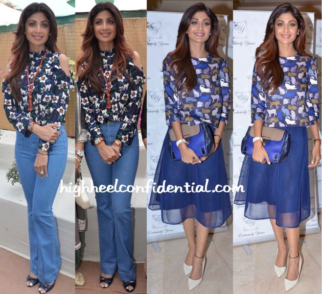 Shilpa Shetty At A Bonsai Exhibition And At Exclusively Yours Launch-2
