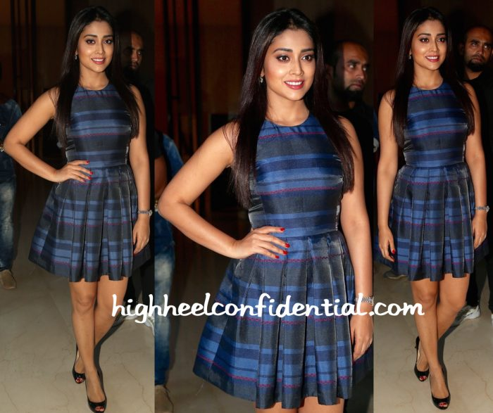Shriya Saran Wears Armani Exchange To Samsung S7 Launch In Hyderabad-1