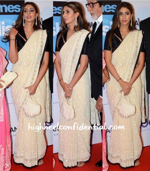 Shweta Bachchan Nanda In Abu Jani Sandeep Khosla At HT Most Stylish Mumbai 2016-1