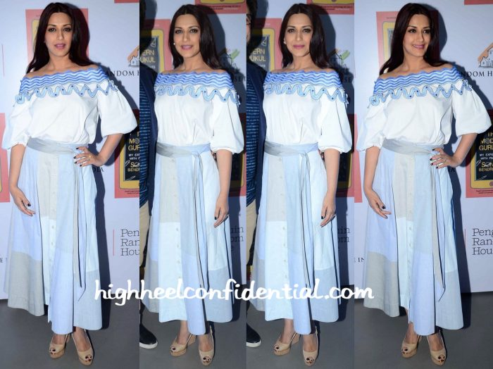 Sonali Bendre Wears Peter Pilotto To Her Book Launch