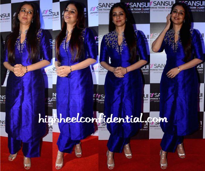 Tabu Wears Anita Dongre To An Event Honoring Anu Malik-1