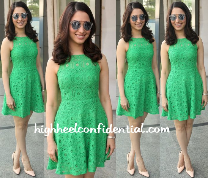 Tamannaah Bhatia Wears BB Dakota And Elizabeth And James To Oopiri Promotions-1