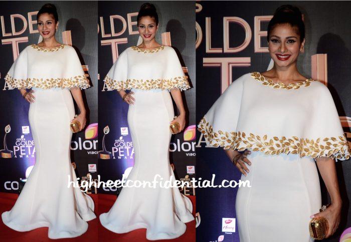 Tanishaa Mukerji In Mayyur Girotra At Golden Petals Awards 2016