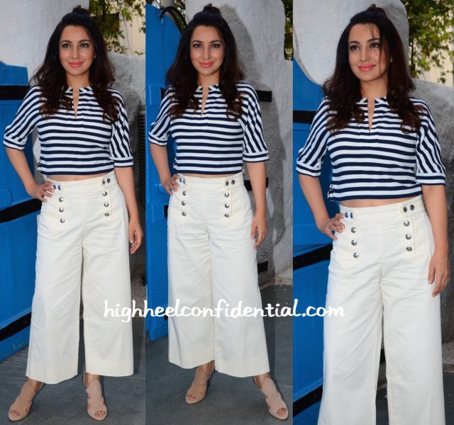 Tisca Chopra In Zara At Maria Goretti's Book Launch