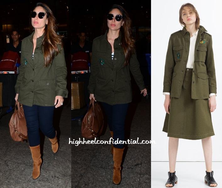 kareena-kapoor-zara-airport-olive-jacket