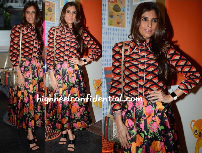 roohi jaikishan in gucci at design temple