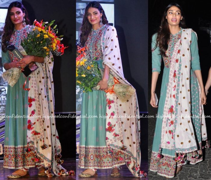 Athiya Shetty In Vrisa By Rahul N Shikha At Dadasaheb Phalke Awards 2016-2