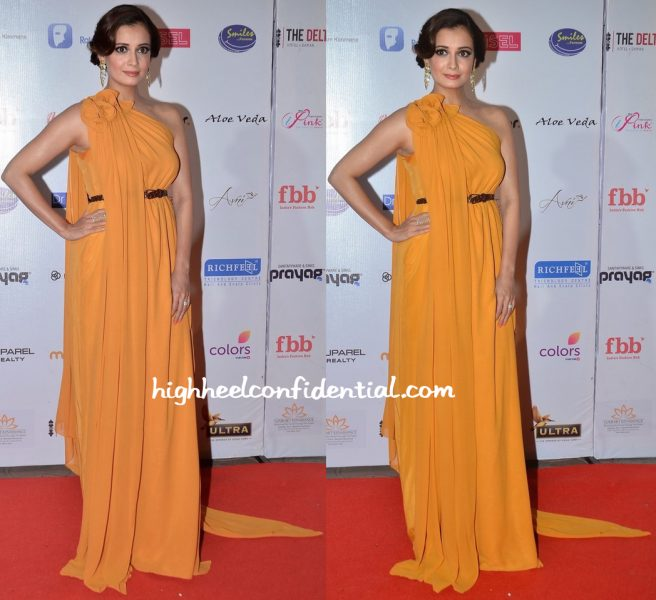 Dia Mirza Wears Lola By Suman B To Miss India Pageant 2016-1