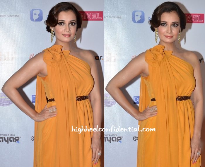 Dia Mirza Wears Lola By Suman B To Miss India Pageant 2016-2