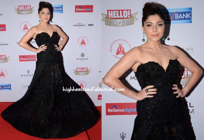 Kanika Kapoor In Versace At GIMA 2016 And In Moe Shour At Hello! Hall Of Fame Awards 2016-2