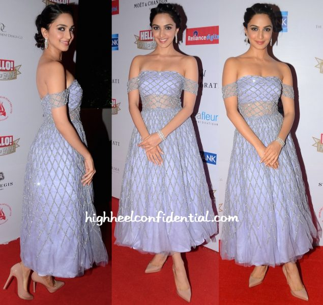 Kiara Advani In Shehlaa By Shehla Khan At Hello! Hall Of Fame Awards 2016