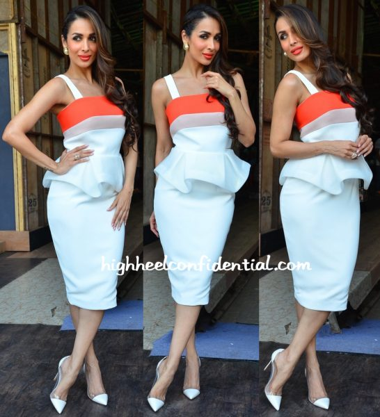 Malaika Arora Khan Wears Peggy Hartanto To India's Got Talent Sets