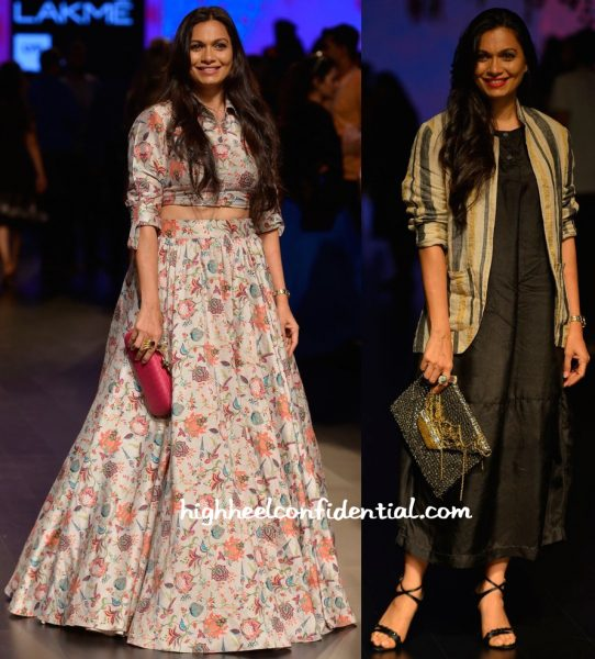 Maria Goretti In Payal Singhal And Eka At Lakme Fashion Week Summer Resort 2016-1
