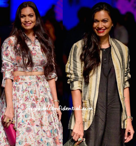 Maria Goretti In Payal Singhal And Eka At Lakme Fashion Week Summer Resort 2016-2