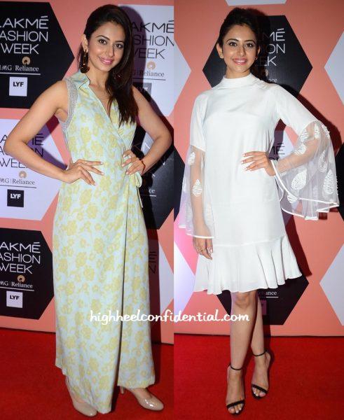 Rakul Preet Singh In Neeta Lulla And Urvashi Joneja At Lakme Fashion Week Summer Resort 2016-1