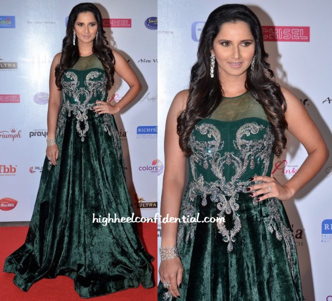 Sania Mirza In Falguni And Shane Peacock At Femina Miss India Pageant 2016