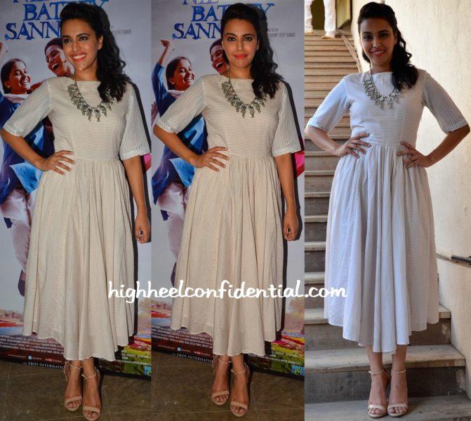 Swara Bhaskar At Neel Battey Sannata Promotions-1
