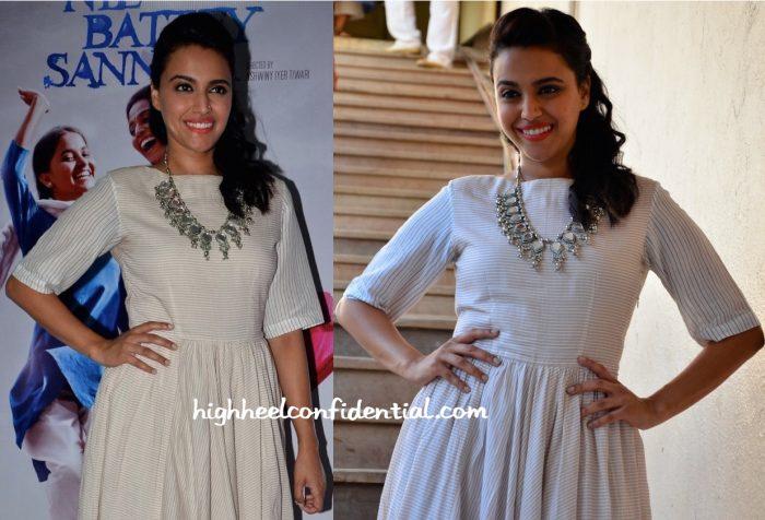 Swara Bhaskar At Neel Battey Sannata Promotions-2