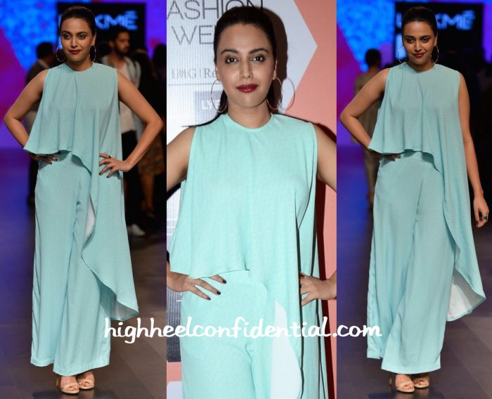 Swara Bhaskar In Anita Dongre Grassroot And Nishka Lulla At Lakme Fashion Week Summer Resort 2016-1