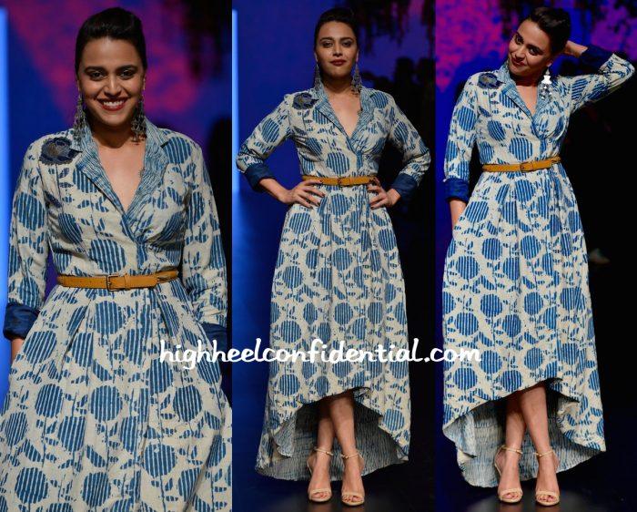 Swara Bhaskar In Anita Dongre Grassroot And Nishka Lulla At Lakme Fashion Week Summer Resort 2016-2