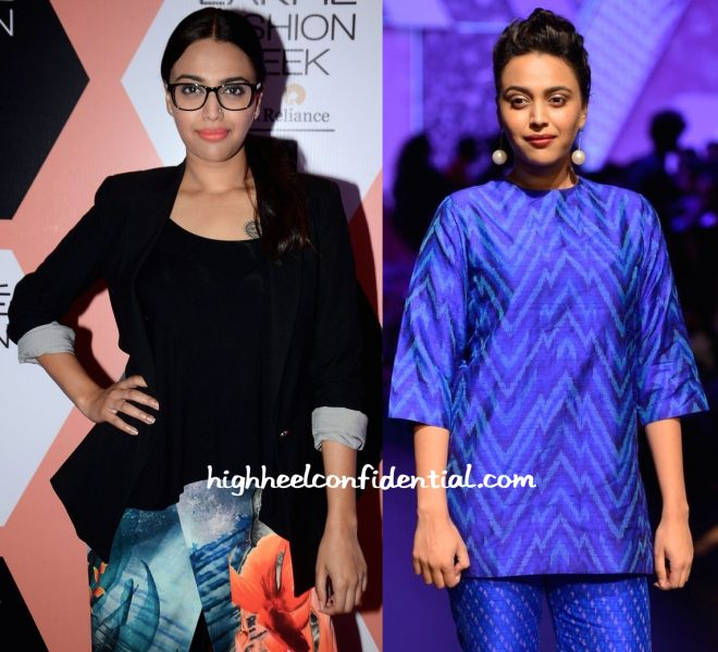 Swara Bhaskar In Farah Sanjana At Lakme Fashion Week Summer Resort 2016-2