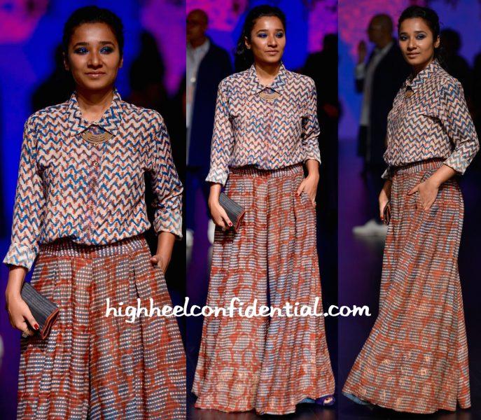 Tannishtha Chatterjee In Anita Dongre Grassroot At Lakme Fashion Week Summer Resort 2016