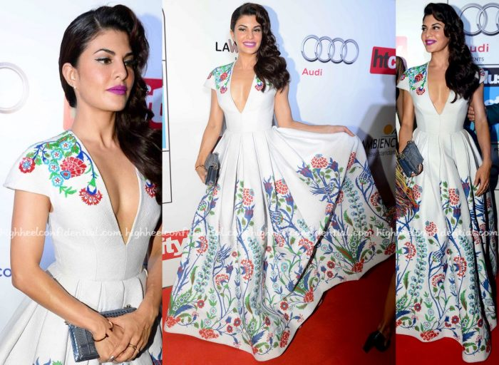 Jacqueline Fernandez In Andrew GN At HT Most Stylish 2016-2