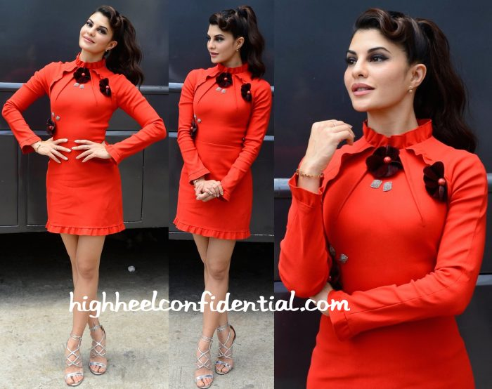 Jacqueline Fernandez Wears Gauri And Nainika To Sa Re Ga Ma Pa Sets For Housefull 3 Promotions-1