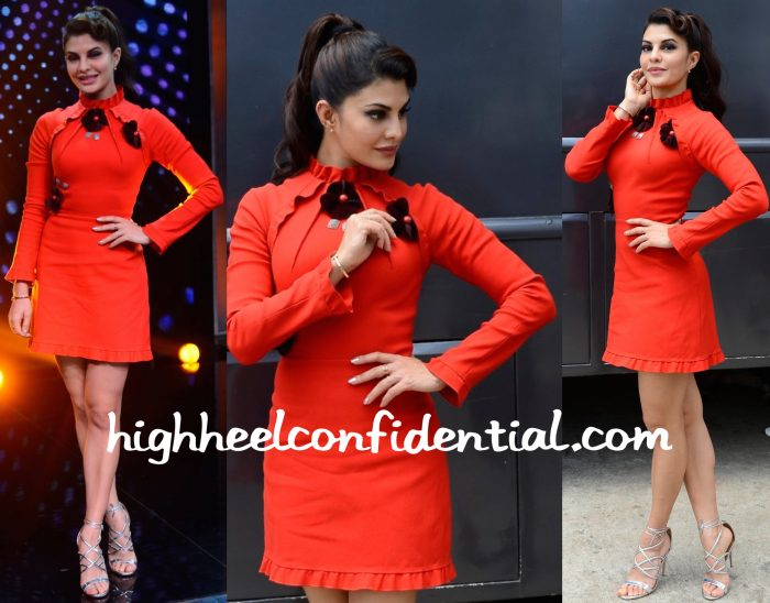 Jacqueline Fernandez Wears Gauri And Nainika To Sa Re Ga Ma Pa Sets For Housefull 3 Promotions-2