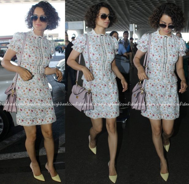 Kangana Ranaut Photographed In Vero Moda At Mumbai Airport-1