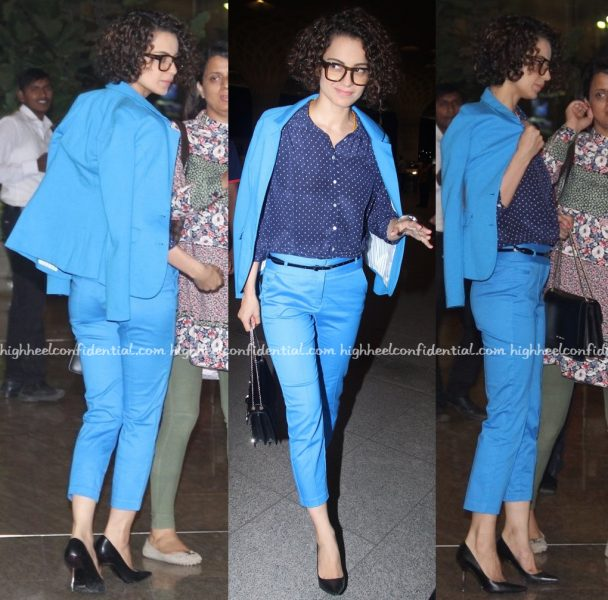 Kangana Ranaut Photographed In Vero Moda At Mumbai Airport-2