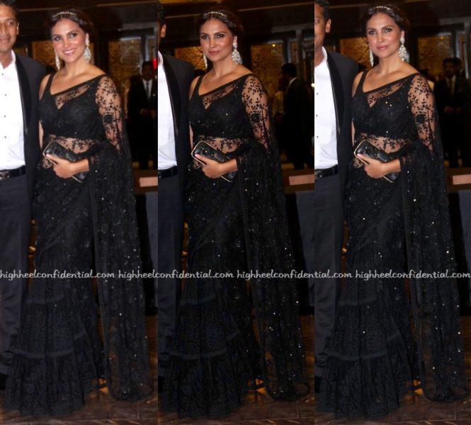 Lara Dutta In Sabyasachi At Preity Zinta-Gene Goodenough Wedding Reception