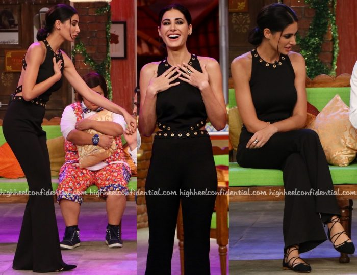 Nargis Fakhri Wears Carousel by Simran Arya To Comedy Nights Live Sets For 'Azhar' Promotions-1