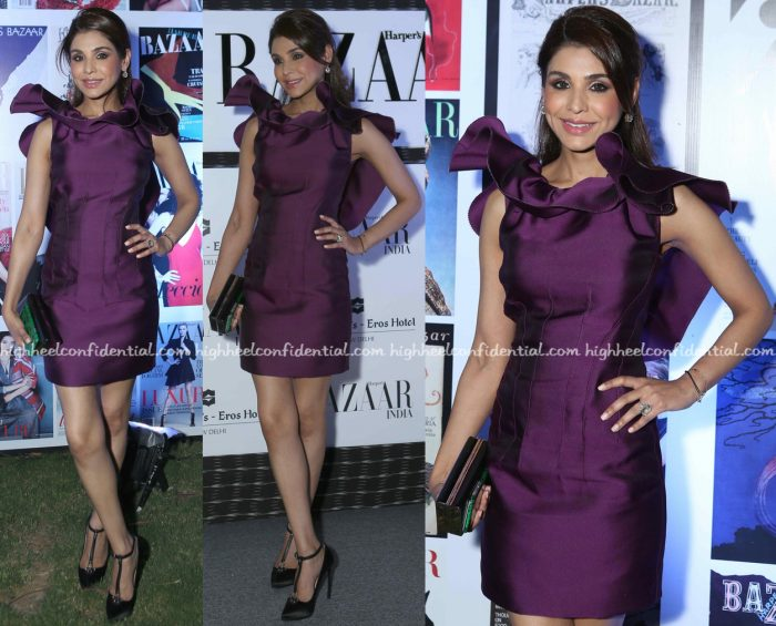 Niamat Bakshi In Lanvin At Harper's Bazaar Anniversary Party