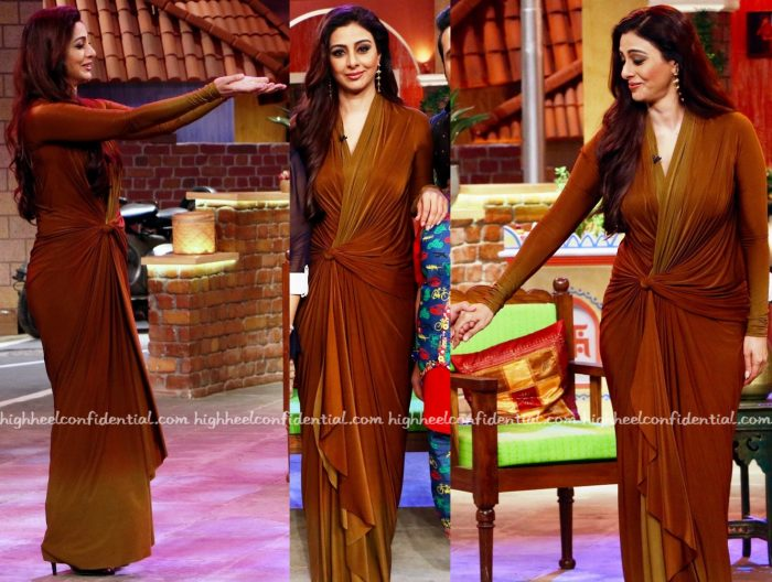 Tabu Wears Malini Ramani To Bipasha Basu-Karan Singh Grover Wedding Reception And On 'The Kapil Sharma Show' Sets